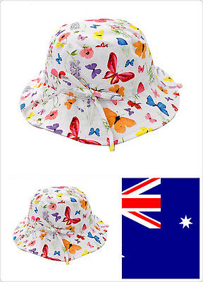 AU Sun hat Toddler Girl Baby Kids Bucket cotton summer sun Hat 0-6years