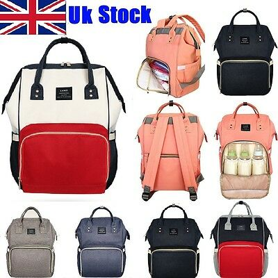 UK TOP Multifunctional Large Baby Diaper Backpack Mommy Changing Bag Mummy Nappy