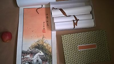4 chinese scroll paintings