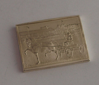 Horse Society Solid Silver Ingot - South Of England Show - John Pinches 1977