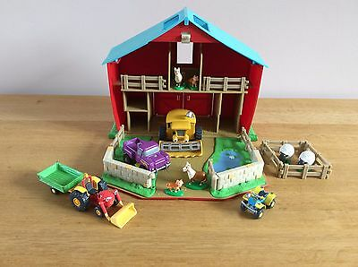 Tractor Tom Barn (Storage case) plus Figures & Vehicles Bundle