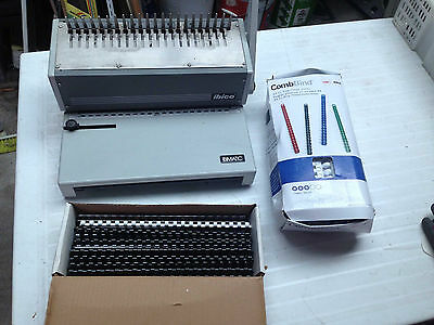 IBICO IBIMATIC MANUAL COMB PUNCH/BINDER VGC Heavy Duty office use