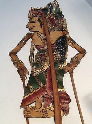 Antique/vintage Indonesian or Indian wooden shadow puppet