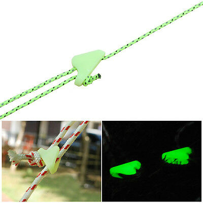 Travel Outdoor Luminescent Cord Rope Tent Rope Camping Buckle Accessory 10Pcs