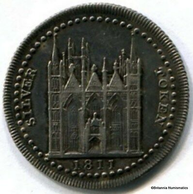 GREAT BRITAIN Northampton Silver 1811 Eighteen Pence Token Dalton 3 Inv 2871
