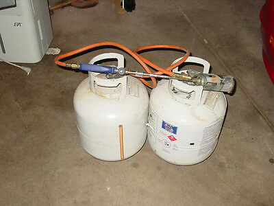 2 propane tanks and torch used 1 time