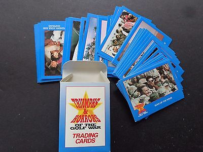 1991 Triumphs & Horrors of the Gulf War Sealed Set of 50 Trading Cards