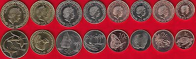 """Tokelau set of 8 coins: 1 cent - 2 dollars 2017 """"New coin family"""" UNC"""