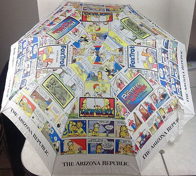 The Arizona Republic Newspaper Comic Funnies Umbrella Auto Open