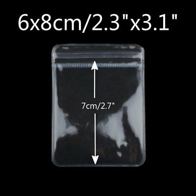 """50 Thick Grip Seal Poly PVC Plastic Self Resealable Packaging Bags 2.3"""" x 3.1"""""""