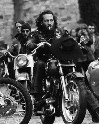 Hells Angels Boss Sonny Barger Back In Time Grainy 67 Glossy 8x10 Photo