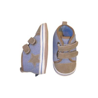 MELTON Baby Krabbelschuhe sportiv light denim Gr. 0-6 Monate