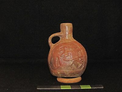 Pre Columbian, Mayan Pottery Vessal, Early Post Classic 900 A.D. 1200 A.D.