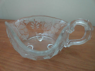 Fostoria Italian Lace Glass Vintage Etched Nappy / Bowl