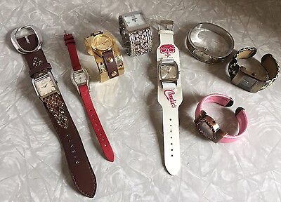 Vintage Style Women Teens Fashion Jewelry Watch Lot 8 WristWatches Candies AS IS