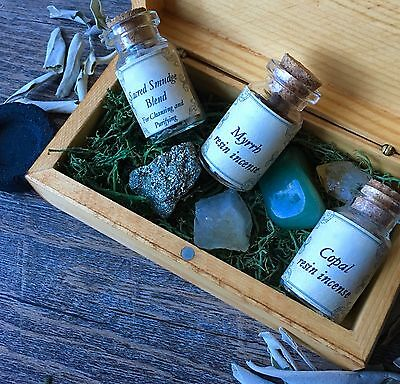 Incense Trio Hand blended Resin Native Herbs Reiki Aromatherapy Wicca Pagan