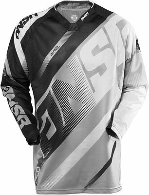 Answer Alpha Air Motocross Mx Moto Jersey Red/acid & Gray/wht + Free Shipping!!