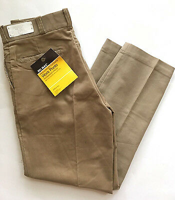 Vintage 70s JC Penney Big Mac Heavyweight Corduroy Tan Work Pants. 36 x 31, NWT