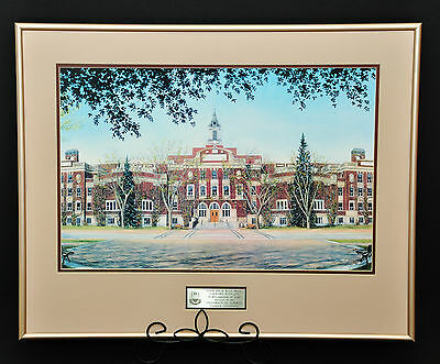 University Of Alberta Edmonton Campus Drawing Limited Edition Print Wall Art