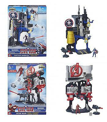 "Avengers 2.5"" Inch Action Figure Playset (Captain America/Iron Man) **NEW**"