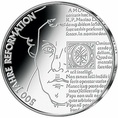 "2017 Germany 20 Euro Silver Uncirculated Coin ""Protestant Reformation 500 Years"""
