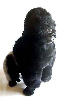 "18"" Silverback Mountain Gorilla FAO Schwarz Plush Stuffed Natural History Museum"