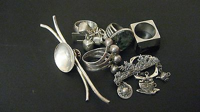 Sterling Silver Jewelry Lot,  78 grams