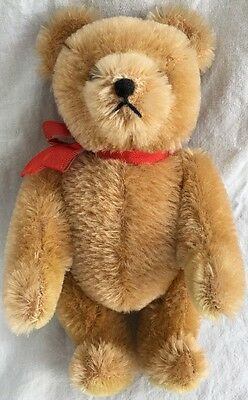 """HERMANN 8"""" Original Teddy Bear Wool/Cotton Mohair Jointed Body West Germany"""