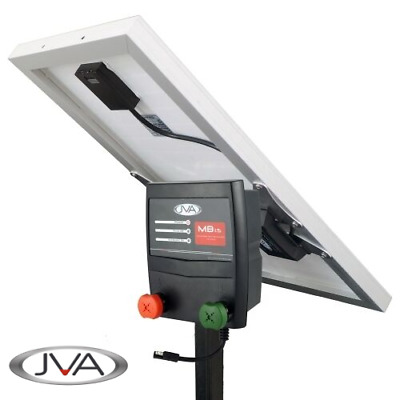 JVA MB1.5 Mains Electric Fence Energiser plus JVA 20W Solar Kit