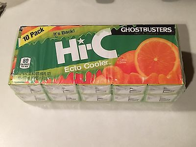 Hi-C Ecto Cooler (2) 10 Pack Juice Box Ghostbusters