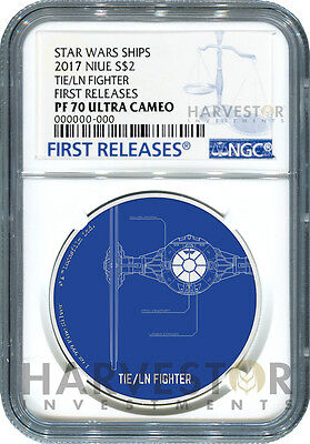 2017 Star Wars Ships: Tie Fighter Tie/ln - Ngc Pf70 First Releases W/ogp - 4Th