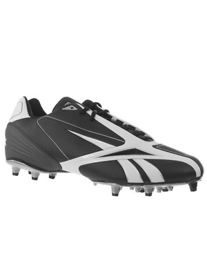 472e4a6964a Reebok Men s Nfl Burner Speed Iii Low M3 Black White Molded Football Cleats  ...