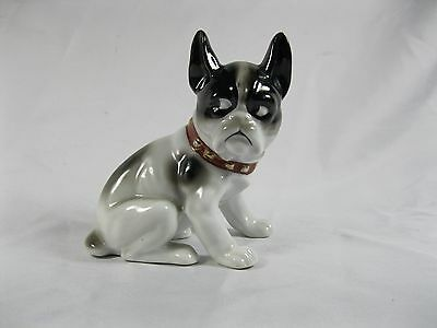 Porcelain Bull Dog With Comical Cute Face Google Eyes Hand Painted Japan Pug