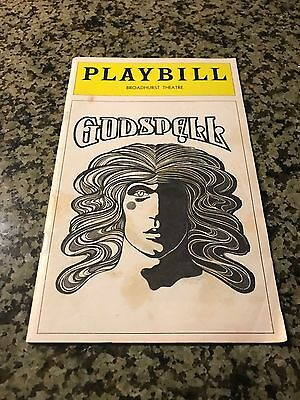 August 1976 Playbill GODSPELL - Broadhurst Theatre New York City