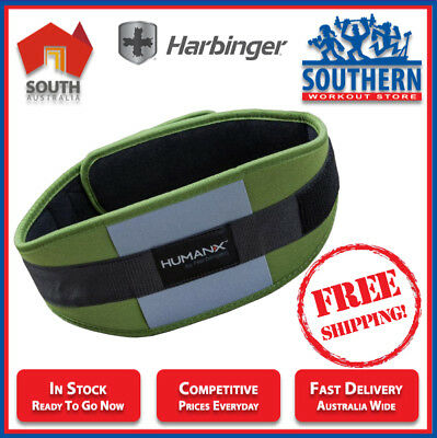 Harbinger Fitness Mens Weight Lifting Belt CoreFlex Competition 6 inch Contoured