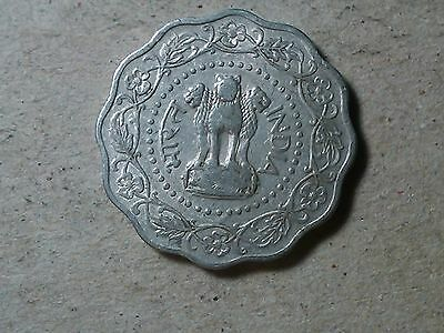 India 10 paise 1974 scalloped shaped coin