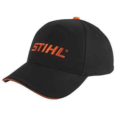 Stihl Genuine Clothing Black Embroidered orange logo Cap unisex hat
