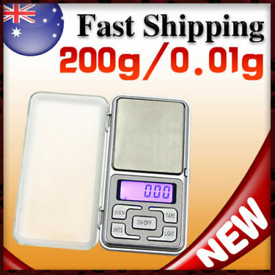 200g 0.01g Digital Precision Weight JEWELLERY ELECTRONIC POCKET LAB SCALE Mini