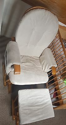 pregnancy, maternity, nursing gliding rocking chair with footstool