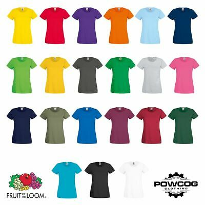 Fruit of the Loom Womens Lady-Fit T Shirt Lightweight Plain Blank T Shirt Top
