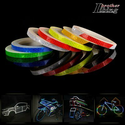 Reflective Stickers 8M Hi Vis Viz Safety Car Bicycle Cycling DIY Reflector Tape