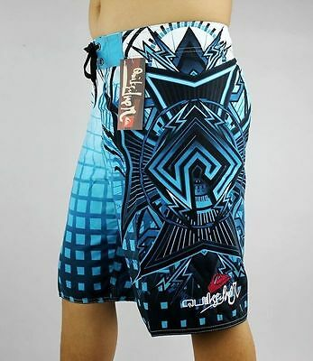 Men's Quiksilver Boardshorts Quick-Dry Blue, Black and White Sizes: 30 - 38