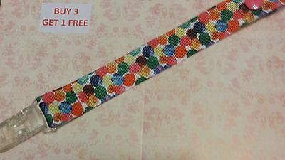Dummy Pacifier Saver Clip The Very Hungry Caterpillar Bright Spots Baby Girls