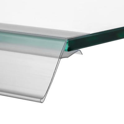 Shelf Edge Strips for Glass Shelf 26 x 105mm Pack of 10 Price Ticket Holders
