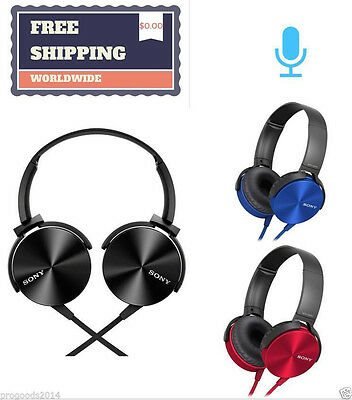 MDR-XB450 3.5MM Foldable Headphones Monitor Extra Bass DJ Style Stereo FOR Sony