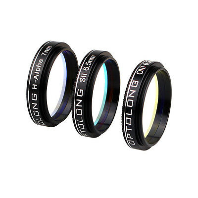 H-Alpha 7nm SII-CCD 6.5nm OIII-CCD 6.5nm Narrow-Band Filters Kit for Mounted