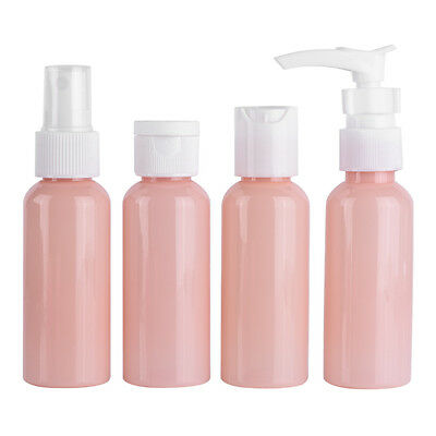 9PCs Holiday Travel Spray Bottle Set Flight Airport Plastic Portable Container G