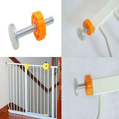 Pressure Mounted Baby Gate Threaded Spindle Rods 4Pack Walk Thru Gates Access JJ