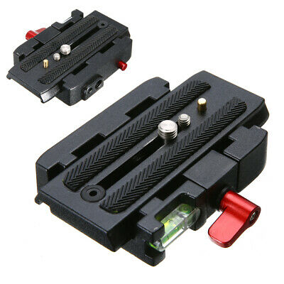 Pro Quick Release Clamp Slide Plate Adapter System for Camera Tripod Ball Head