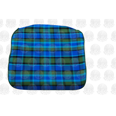 T2 Westfalia Early Bay Front Seat Bottom Cover in Blue Plaid as original C9545BL